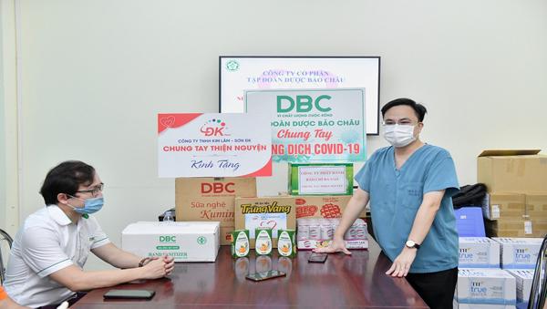 Dược Bảo Châu tặng nhu yếu phẩm tiếp sức tuyến đầu chống dịch