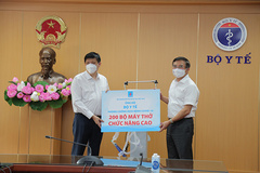 Petrovietnam tặng 200 máy thở phục vụ điều trị Covid-19
