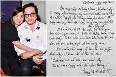 Danh ca Elvis Phương viết thư tay gửi vợ tròn 41 năm quen nhau