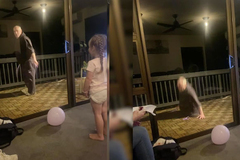 Cụ ông trổ tài nhảy dây trước mặt cháu gái và sự cố nguy hiểm