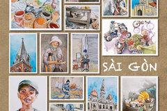Life sketchesrecord hustle and bustleof Sai Gon