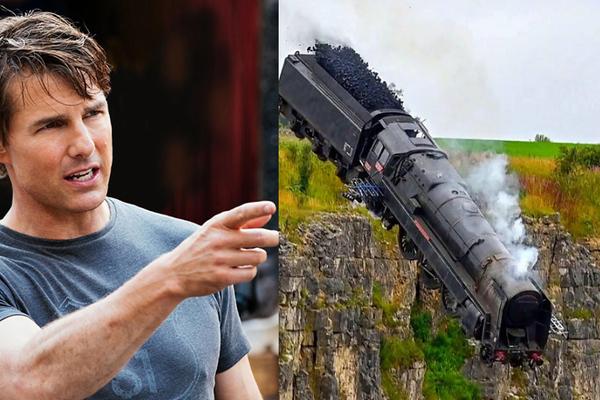Đoàn phim của Tom Cruise cho cả một đầu tàu rơi xuống vực