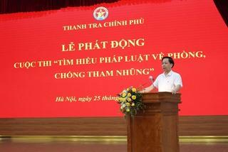 Thanh tra Chính phủ tổ chức cuộc thi tìm hiểu pháp luật về phòng chống tham nhũng