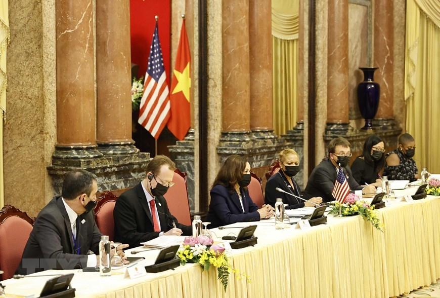 Chủ tịch nước tiếp Phó Tổng thống Hoa Kỳ Kamala Harris
