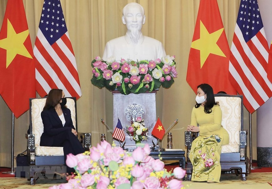 Vice President Vo Thi Anh Xuan welcomes US counterpart Kamala Harris