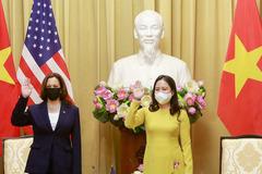 Lãnh đạo cấp cao Việt Nam tiếp Phó Tổng thống Mỹ Kamala Harris