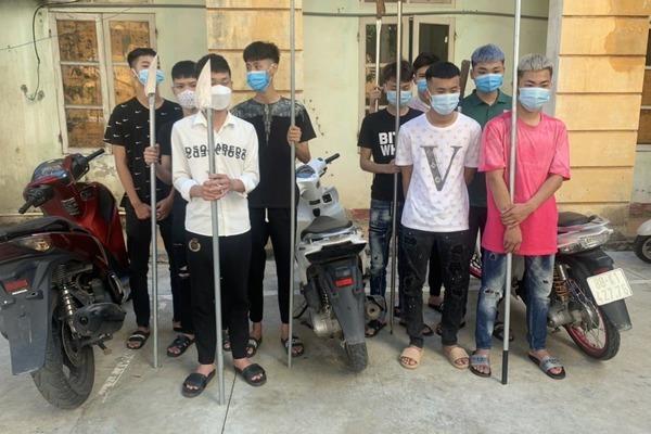 Bắt giữ nhóm thanh niên sử dụng hung khí tự chế hỗn chiến ở Vĩnh Phúc