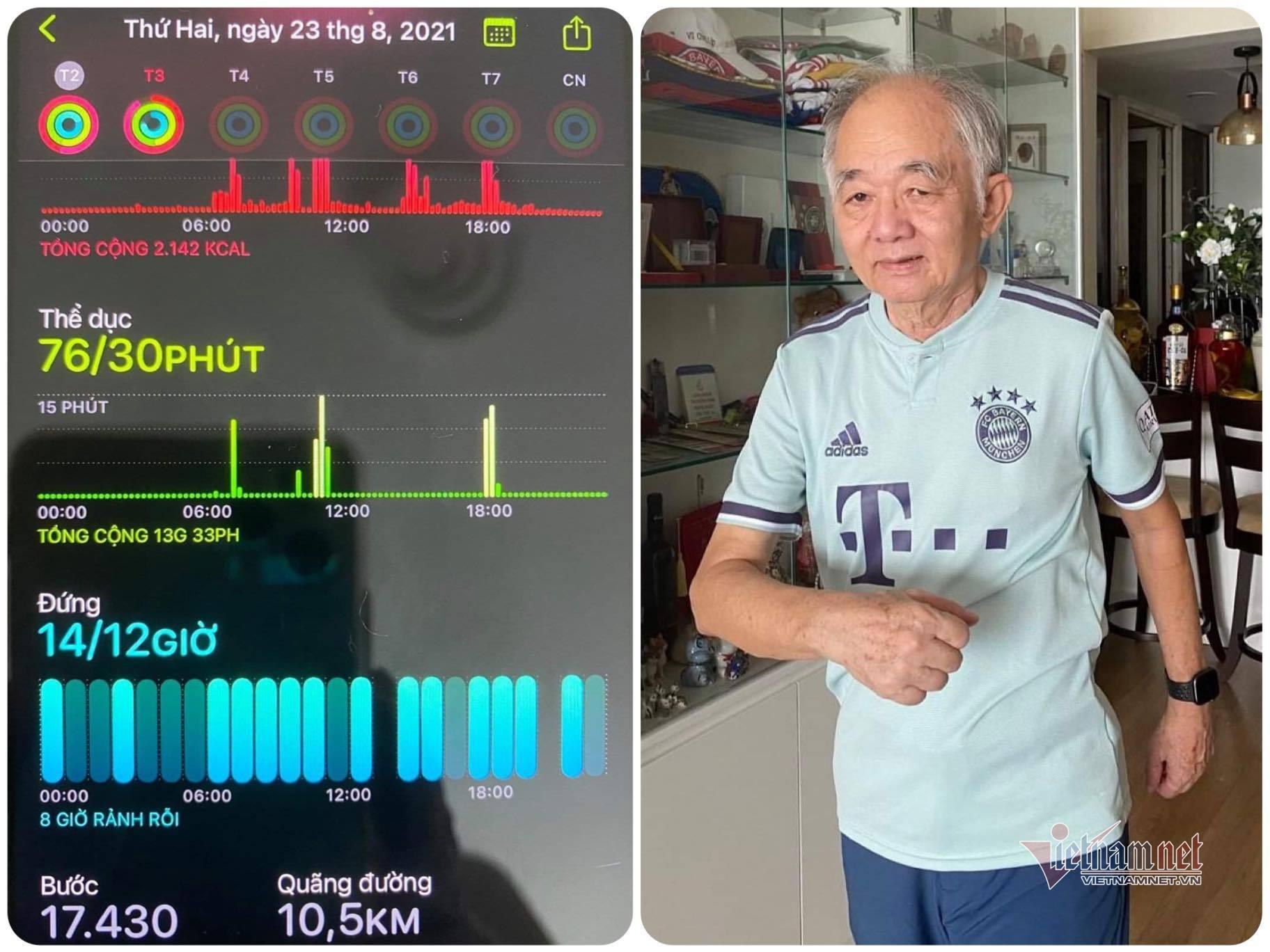Kinh nghiệm luyện tập của cụ ông 75 tuổi nhiều bệnh nền đi qua mùa dịch