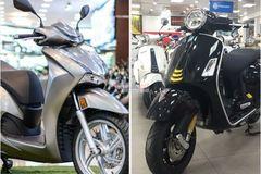 Giá 150 triệu đồng, chọn Vespa SuperTech 300HPE hay Honda SH 350i?