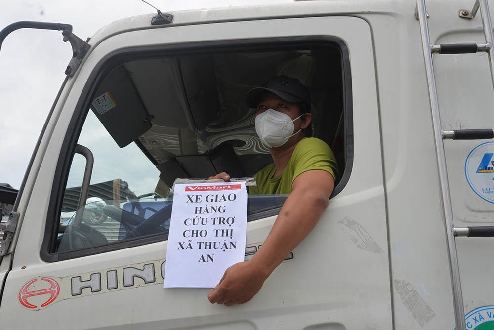 Xe chở hàng hóa đã được di chuyển vào Cần Thơ
