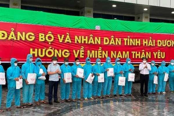 Hải Dương hỗ trợ 160 tấn gạo và 5,5 tỷ cho các tỉnh phía Nam chống dịch