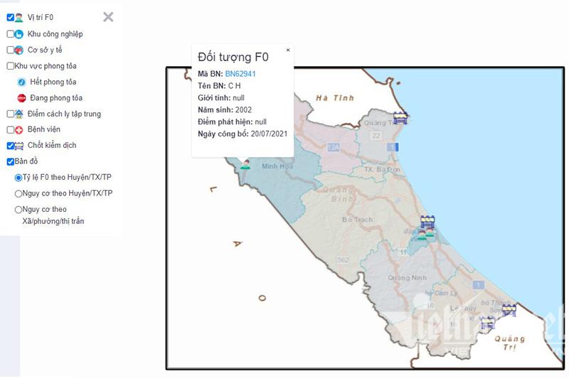 Nhiều nơi dùng bản đồ Make in Việt Nam để chống dịch Covid-19