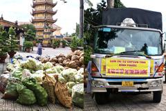 Tăng ni, Phật tử Bình Phước gửi 12 tấn nông sản hỗ trợ người dân Bình Dương