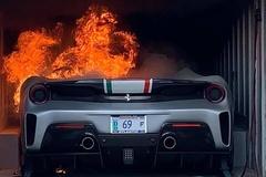 Ferrari 488 Pista phiên bản đặc biệt cháy rụi vì chập điện