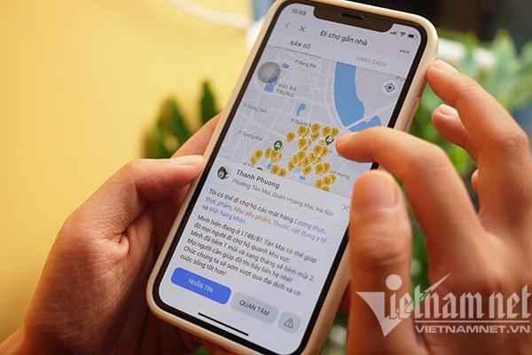 Người dân Hà Nội, TP.HCM đã có thể nhờ đi chợ hộ qua app