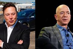 Elon Musk chế nhạo Jeff Bezos
