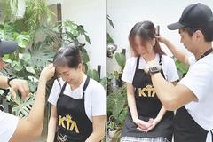 Chồng kém 11 tuổi ân cần cắt tóc cho Khánh Thi