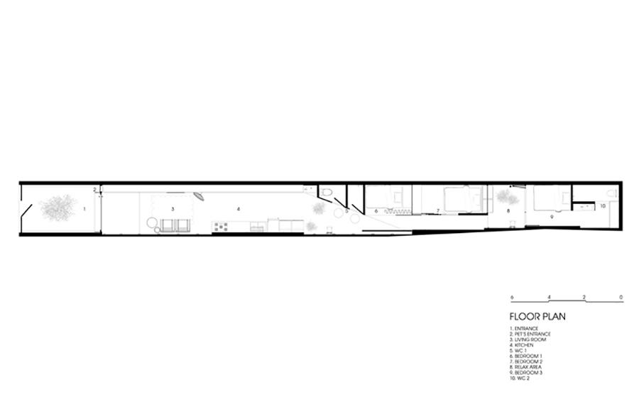 Nhà cấp 4 dạng ống bề ngang chỉ 2,9m thiết kế như khoang máy bay