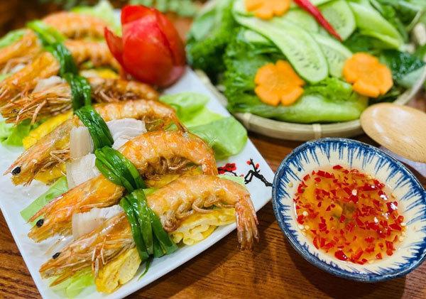 A typical Vietnamese shrimp dish