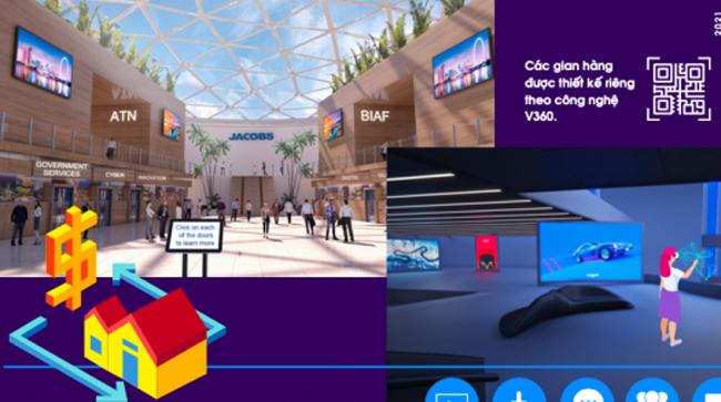Ứng dụng công nghệ VR tại Hội chợ ảo Internet Expo 2021