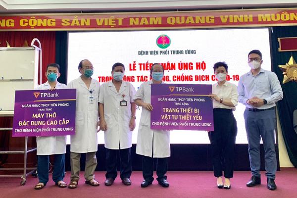 TPBank tiếp tục tài trợ máy thở cho các bệnh viện chống dịch