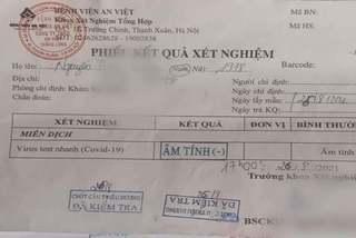Hà Nội: Tài xế sửa giấy xét nghiệm Covid-19 bị phạt 5 triệu đồng
