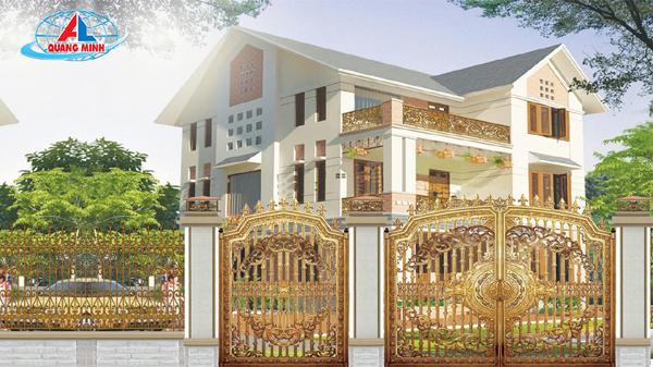 Cổng nhôm đúc Quang Minh - Xu hướng xây dựng mới của các ngôi nhà