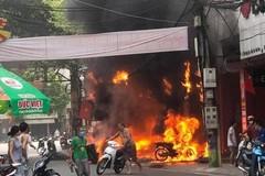 Bắt nghi can ném bom xăng vào cửa hàng xe máy ở Vĩnh Phúc