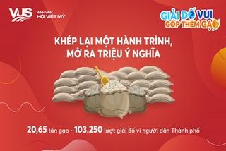 VUS đố vui online góp 20,65 tấn gạo hỗ trợ người khó khăn vì Covid-19