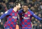 Thần đồng Barca mặc áo số 10 của Messi