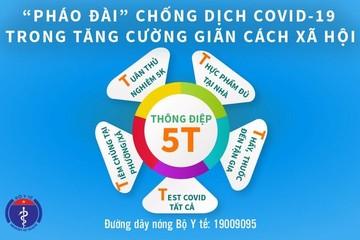 Bộ Y tế phát đi 'Thông điệp 5T' chống dịch Covid-19 giai đoạn mới