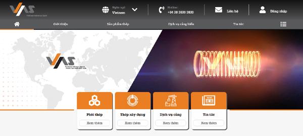 Tập đoàn VAS ra mắt giao diện website mới