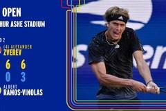 US Open 2021: Zverev dễ dàng lấy vé vòng 3