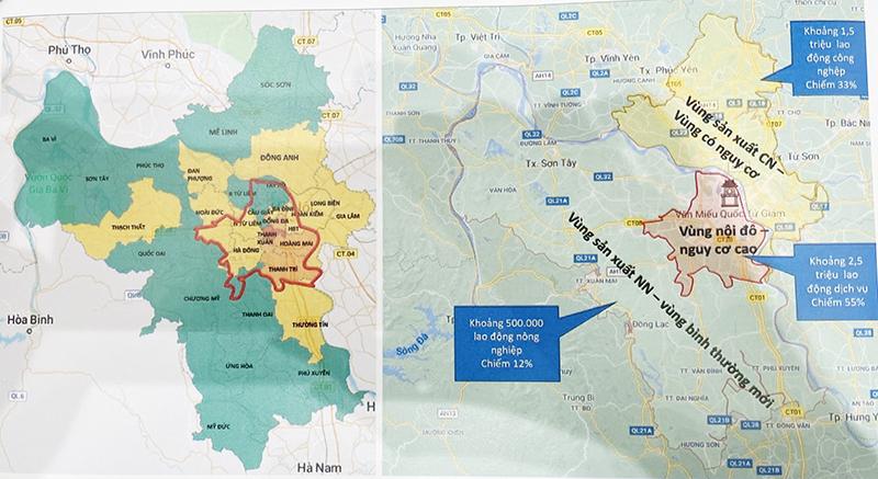 Các 'vùng đỏ' tại Hà Nội tiếp tục giãn cách xã hội đến 21/9