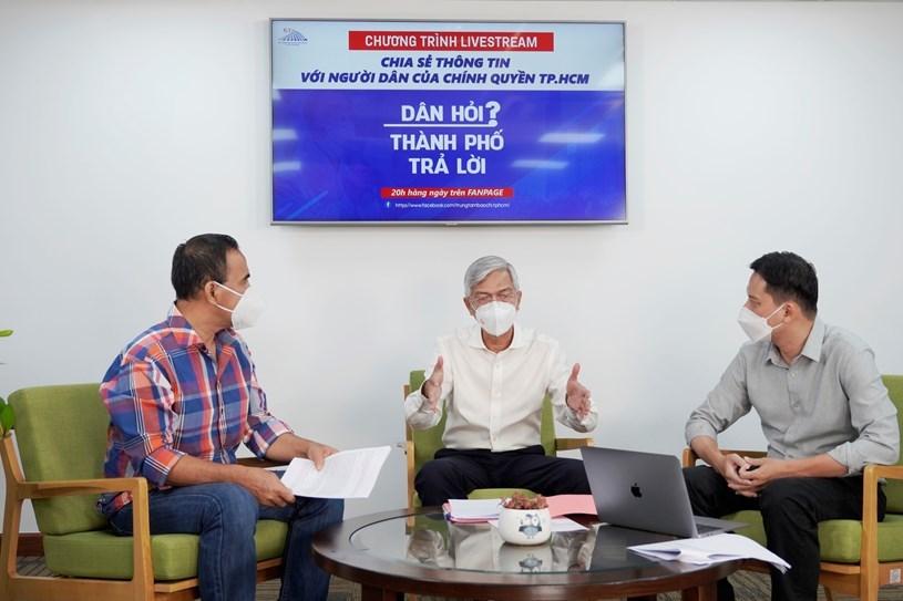 Chủ tịch TP.HCM Phan Văn Mãi lên sóng livestream, đối thoại về định hướng sau 15/9