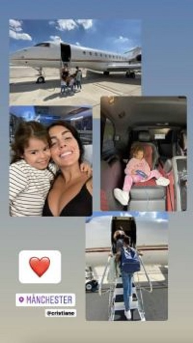 Ronaldo cùng bạn gái và các con đã đến Manchester