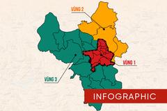 Chi tiết 30 quận, huyện Thủ đô áp dụng các quy định mới từ 6/9