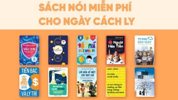 Sách nói miễn phí giúp người đọc giải trí trong thời gian xa cách xã hội