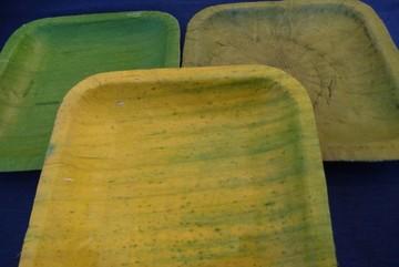 Đồ ăn đựng bát đĩa lá chuối khô, chơi tranh lá sen chục triệu đồng