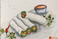 Enjoy Hanoi delicacies through sketches
