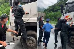 Bắt tài xế chống người thi hành công vụ tại chốt kiểm dịch ở Thanh Hóa