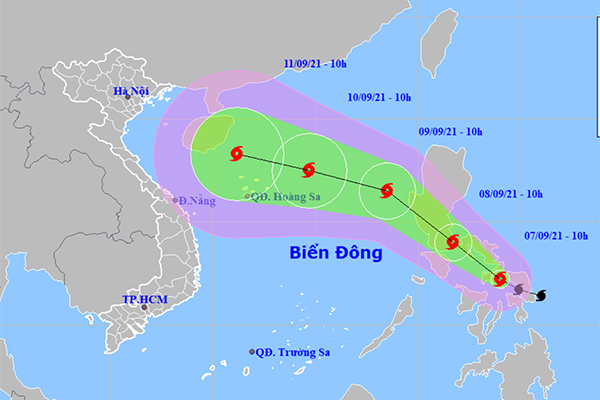 Bão Côn Sơn giật cấp 11, có thể liên tục tăng cấp khi vào Biển Đông