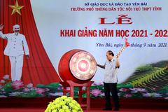 Chủ tịch Nước đánh trống khai giảng năm học mới tại Trường Phổ thông Dân tộc nội trú tỉnh Yên Bái