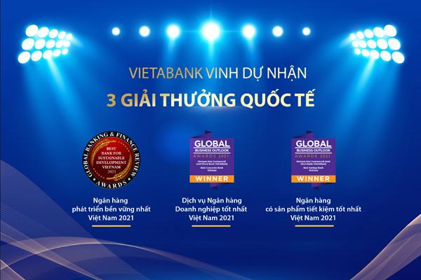 Ngân hàng Việt Á nhận 3 giải thưởng quốc tế lớn