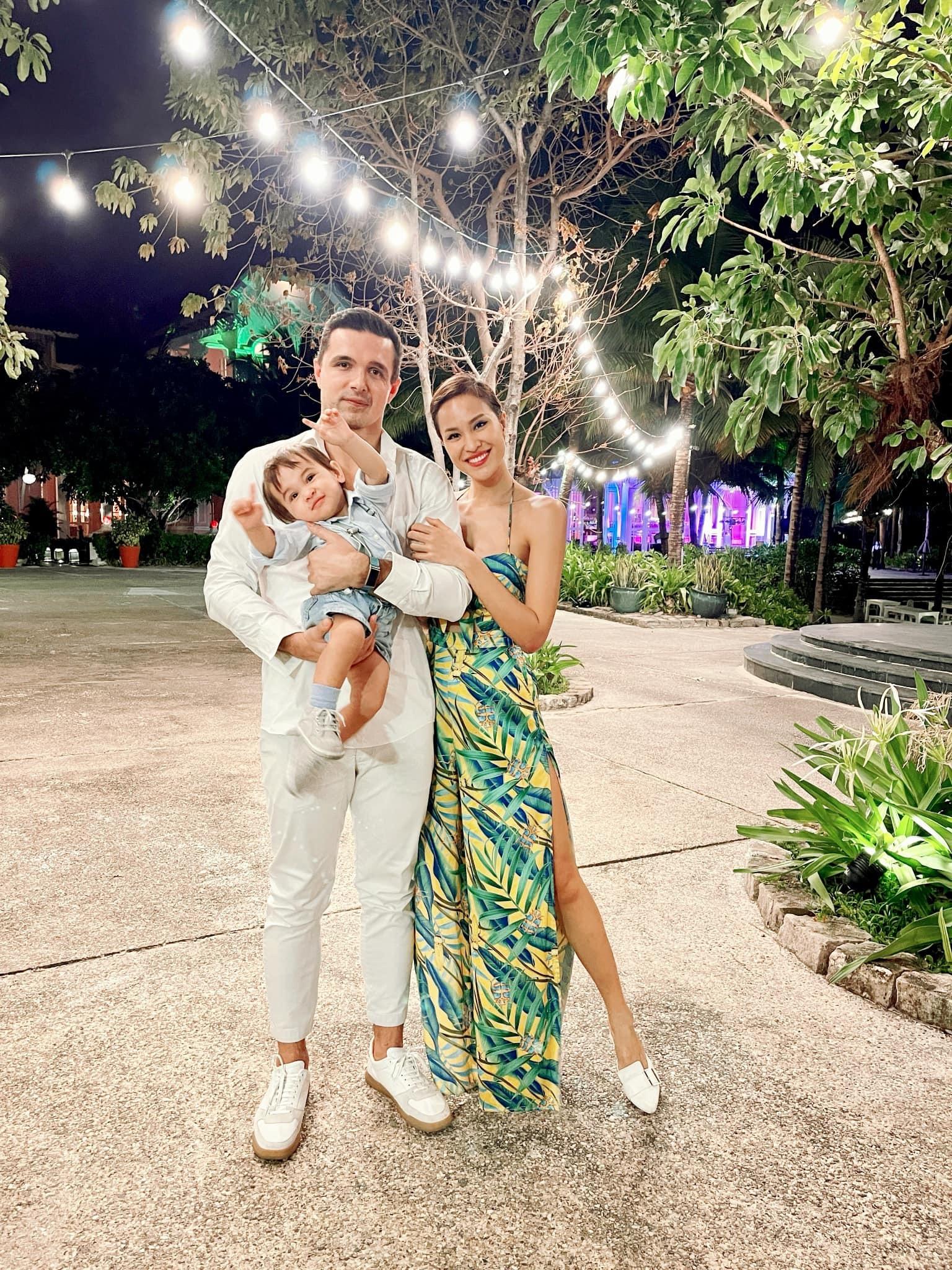 Vẻ đáng yêu của con trai MC Phương Mai và chồng ngoại quốc