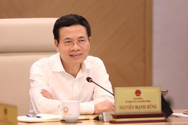 Bộ trưởng Nguyễn Mạnh Hùng phát biểu tại giao ban Quản lý nhà nước tháng 8/2021