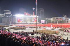 Hình ảnh lễ diễu binh nửa đêm đặc biệt của Triều Tiên