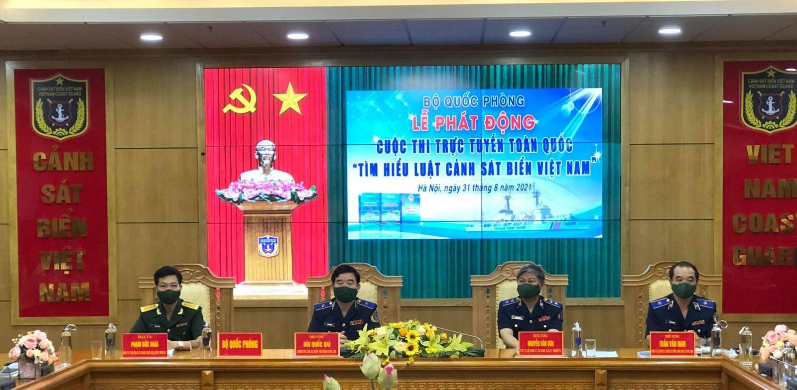 """Khuyến khích các các cơ quan, đơn vị quân đội tham gia Cuộc thi trực tuyến toàn quốc """"Tìm hiểu Luật Cảnh sát biển Việt Nam"""""""