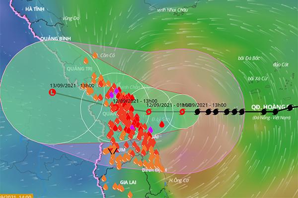 Bão số 5 dự kiến đổ bộ sáng mai, nguy cơ ngập lụt ở 40 huyện miền Trung