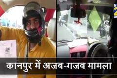 Tài xế lái xe ô tô bị phạt vì lỗi không đội mũ bảo hiểm